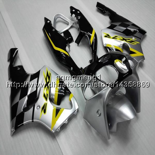 Kit de carénage moteur ABS argent 23colors + Botls pour Kawasaki ZX-7R 1996 1997 1998 1999 2000 2000 2002 2002 2003 Kit de carénage moteur ABS