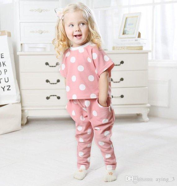 Filles Set de Explosifs Dot Imprimer à manches courtes + pantalon Harlan Deux Set Piece