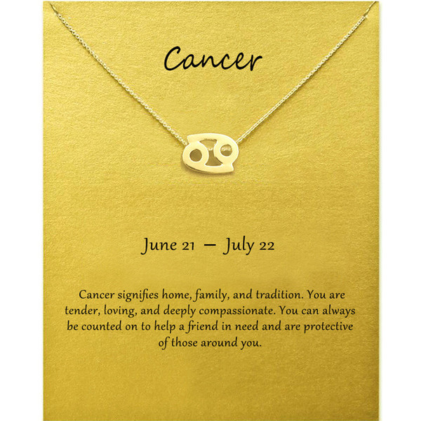 Fashion Jewelry 12 Constellation Cancer
