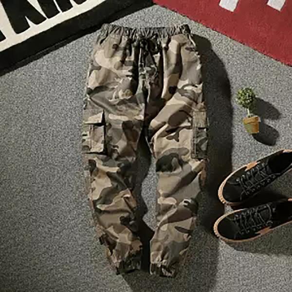 2018 New Summer Cargo Pants Men Camuflagem Tactical Casual Algodão Calças de Algodão Casuais Homens Pantalon Hombre