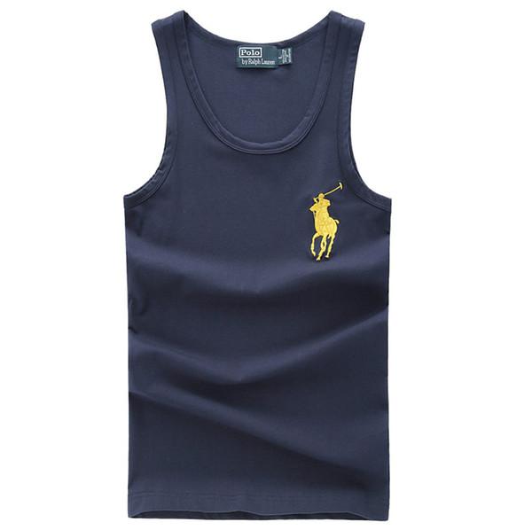 Big Horse Mark Gilet Hommes Mode Lauren Casual Hommes Femmes Tank Tide marque hip-hop Gilets top qualité Camisa chemise sans manches taille S-XXL