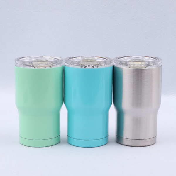 Stainless Steel Tumbler 14Oz 3 colors water bottle Double Wall Insulation Vacuum Water Coffee Mugs Car Cups With Lids MMA1952