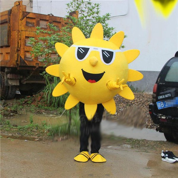 2019hot new Adult Size Sun Mascot Costume Activity Costumes Fancy Dress Suit Free Shipping