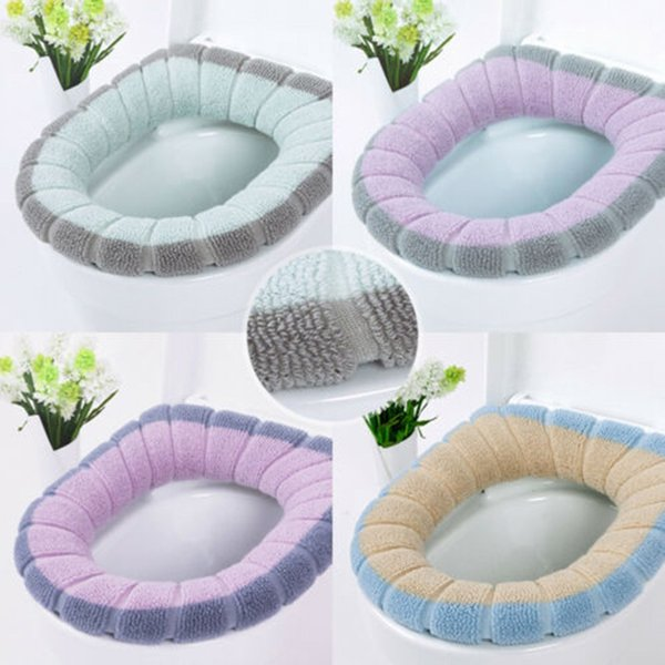 Toilet Seat Warmer Winter Comfortable Soft Heated Washable Toilet Seat Mat Bathroom Accessories For Home Decor Closestool Mat