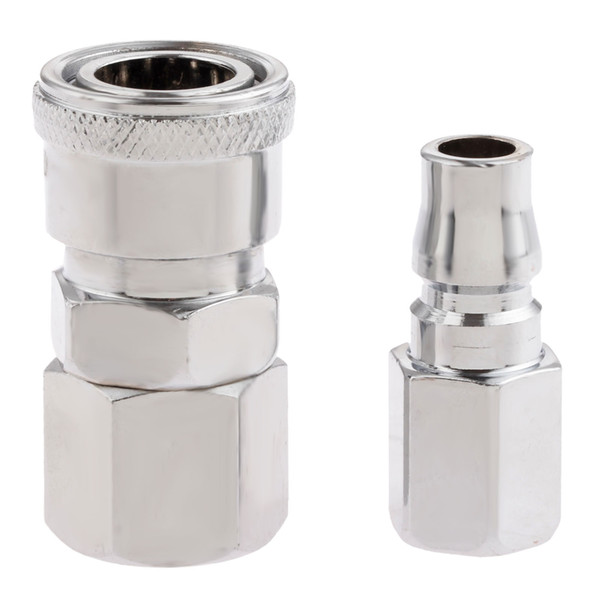 """neumatic fitting 2Pcs Pneumatic Fittings Euro Air Line Hose Compressor Connector Quick Release 1/4""""BSP Female Thread Coupler Connector Fi..."""