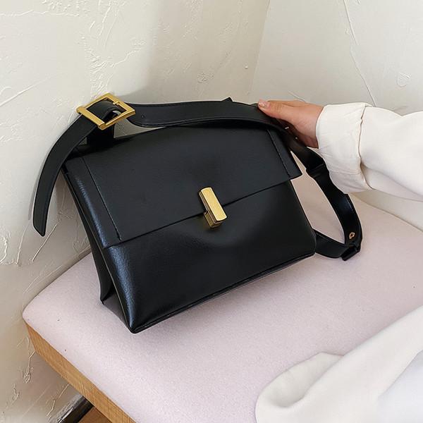 Women Handbag 2020 Hot New Luxury Designer Fashion Wide Strap Crossbody Messenger Bag Small Square Shoulder Bag