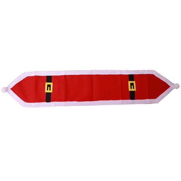 Tabelas corredor da tabela Chirstmas dos desenhos animados da tabela da festa de Natal Runner Red Christmas Dinner Toalha Lint Pano Runners 30 Pieces DHL