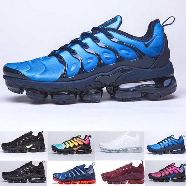 Ücretsiz Kargo Yeni 2019 Erkek Ayakkabı Sneakers TN Artı Nefes Hava Cusion Desingers Rahat Koşu Ayakkabıları Yeni Varış Renk US5.5-11 EUR36-45 D