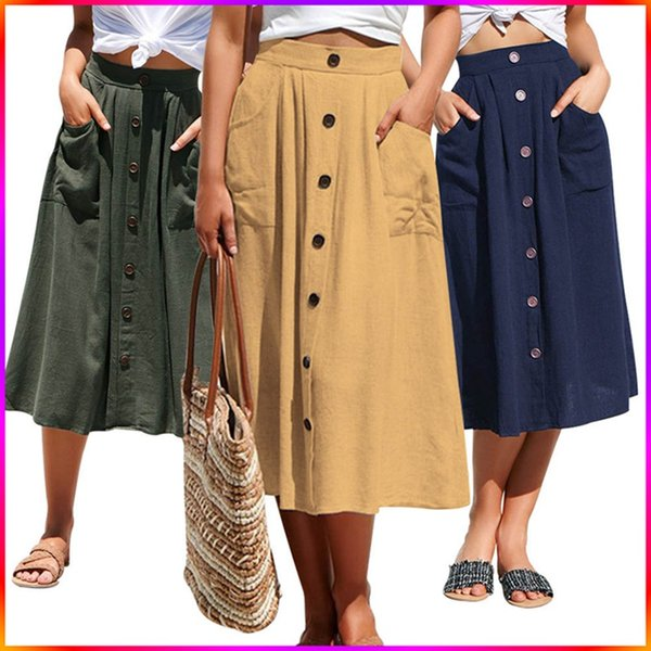 159036899b Nueva primavera una línea de falda plisada de las mujeres a media pierna  longitud elegante coreana