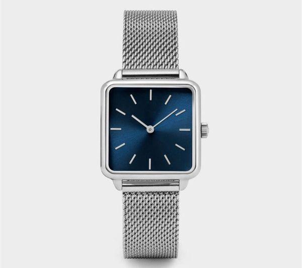 2019 Square Brand Women Men Watch Luxury Watches Classic Quartz rose gold silver color Dress Watch Bracelet Wristwatch