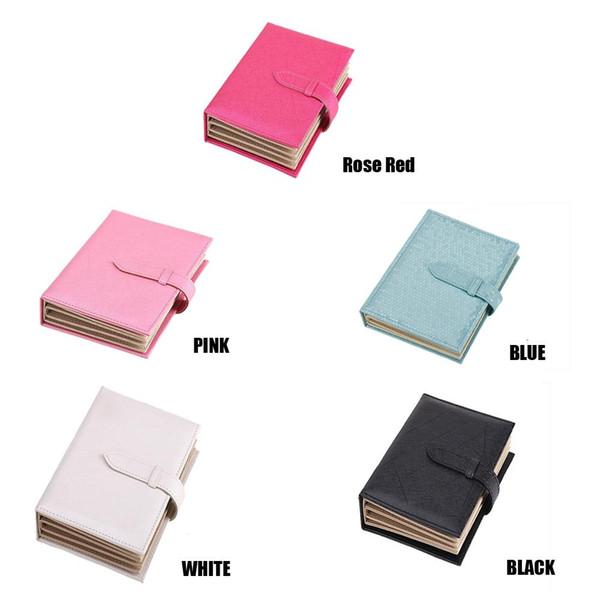 Мода Кожа PU Jewelry Box Book Дизайн серьги Подарочные коробки для ювелирных изделий Организатор Упаковка Porte Bijoux