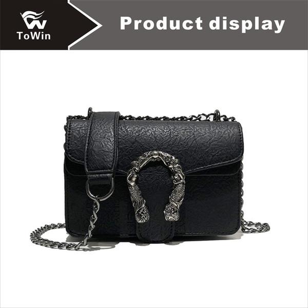 New Trend Sling Bags Simple Chain Style Crossbody Bag Women Handbag Purse High Quality PU Shoulder Bag Tote Wallet Mini Flap Bags Purse