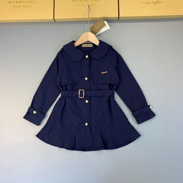 Girl windbreaker kids designer clothing autumn thin dress style trench coat skirt pleated design classic dresses coat