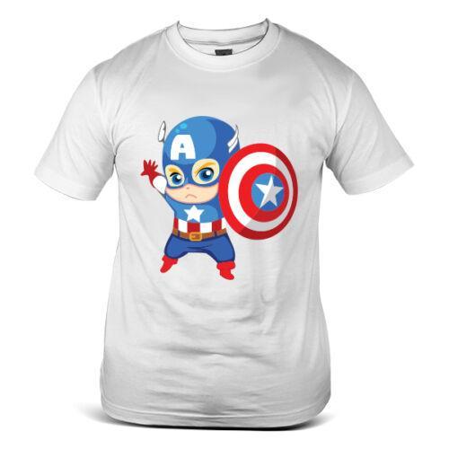 3860-WH Капитан Американский Мстители SuperHero Shied Белый Мужская Футболка Мужчины Женщины Унисекс Мода футболка Бесплатная Доставка