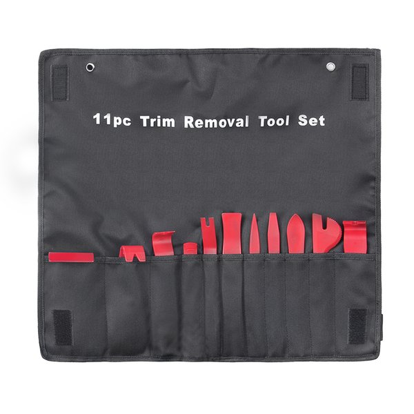 11Pcs/set Car Plastic Trim Removal Tool Audio Door Panel Open Molding Set Kit Pouch Tool Auto Interior Hand Tools New