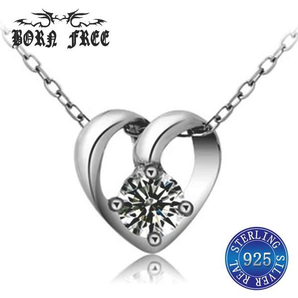 925 plata corazón colgante medallón colgantes emparejados para los amantes del ahogador pendentif joyas joyería colgante collares colgantes