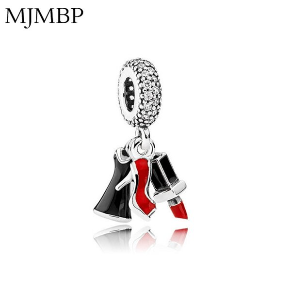 Lipstick High Heels DIY Pendant Charms Nice Fashion  Fit Pandoraa Gift For Bracelet & Necklaces Jewelry making Women Gifts