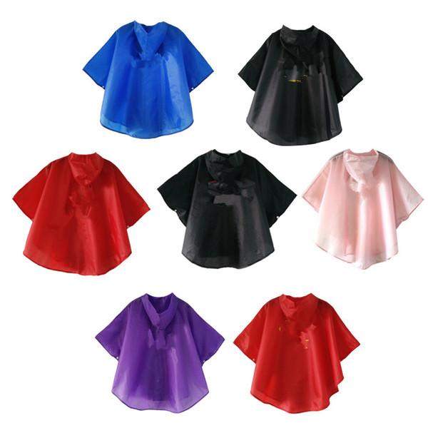 Kids cartoon printed Rain cape Cute heroes printing hooded poncho raincoat children back to school gifts