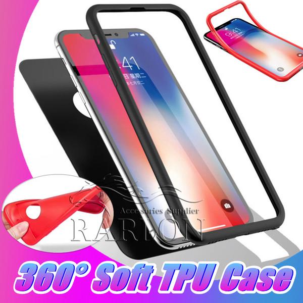 Pour iPhone XS MAX Cases 360 Degrés Anti-Chocs Full Body Protection TPU Couverture Couverture 2 en 1 Etui Pour Samsung S10 E Plus