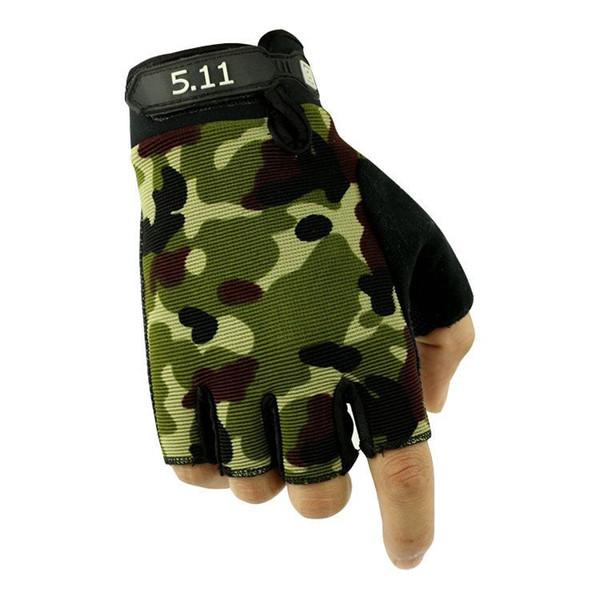 Открытый спорт Тактические перчатки половина палец для пеших прогулок езда на велосипеде мужские перчатки броневой защиты борьба фитнес перчатки