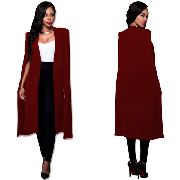 New Creative Design Long Style V-Neck Women Coat Spring Fashionable Outerwear Coats Sleeveless Office Lady Jackets Open Stitch