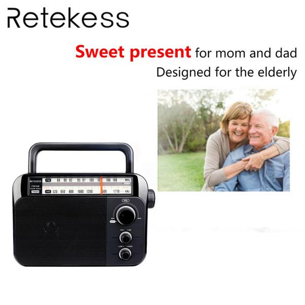 Retekess TR604 Tragbares FM / AM-2-Band-Radio mit Wechselstromversorgung für den alten Großlautsprecher-Radioempfänger mit hoher Lautstärke Griff mit zwei Tönen