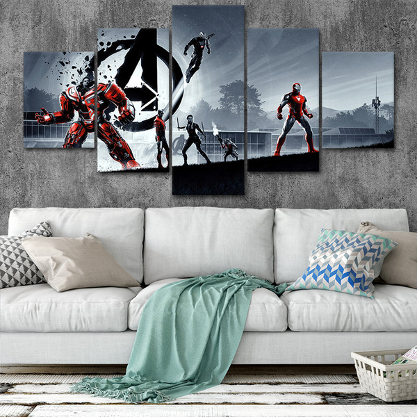 Marvel Avengers Canvas Posters Home Decor Wall Art Framework 5 Pieces Paintings Style4 For Living Room HD Prints Moive Pictures