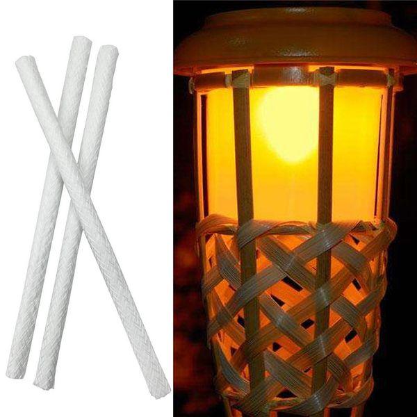 Liplasting Durable Glass Fiber Wick Glass Holders for Wine Bottle Alcohol Oil Lamp Kerosene Burner Stove Wick 5pcs/set