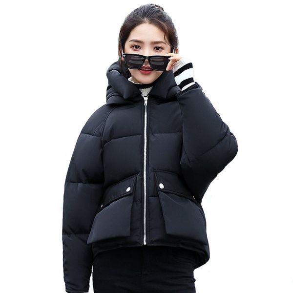 Fashion 2018 Korean Style Winter Jacket Women Bubble Hooded Short Outwear Female Coat Students Chaqueta Mujer