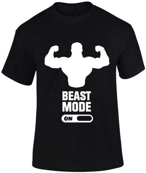 Modo bestia en Macho Man Gimnasio Deportes Fitness Crossfit Levantamiento de pesas Hombres camiseta
