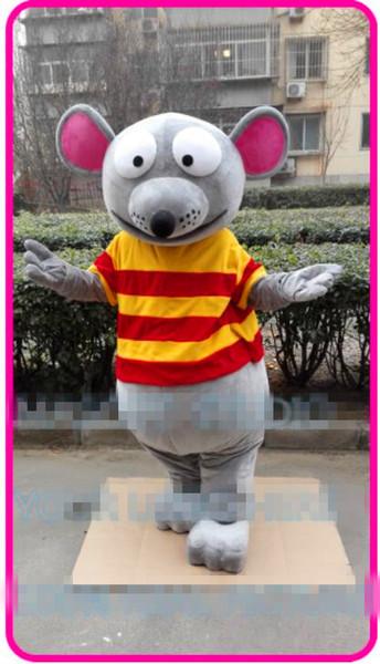 Profesional personalizado rata y ratón traje de la mascota personaje de dibujos animados animal Ropa Fiesta de Halloween Fiesta Vestido de lujo