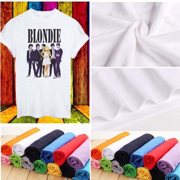 Debbie Harry Blondie Cantor T-shirt Rock Pop Disco Música T-shirt Das Mulheres Dos Homens Unisex T-shirt de Verão de Manga Curta Camisas S-3XL