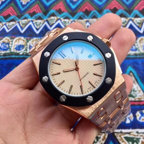 Роскошные часы Royal Oak 15400ST Механические автоматические нержавеющей стали Мужские