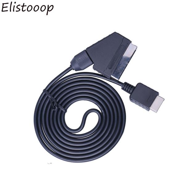 SCART AV TV par câble RGB plomb réel Câble Péritel Remplacer le câble de connexion pour Playstation PS1 PS2 PS3 Slim