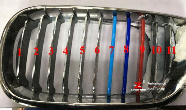 2019 3d M Front Grille Trim Strips Grill Cover Stickers For 2002 2005 Bmw E46 316i 318i 320i 325i 328i 330i 323i 4 Door Only From Xiaolei007 3073