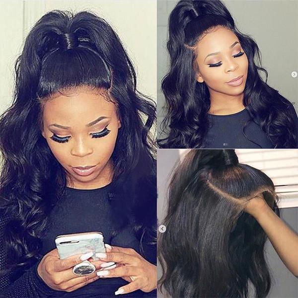 Парик 360 человеческих волос пре сорванный с естественным волосяным покровом объемная волна Виргинский бразильский 360 шнурок прифронтовой бразильские парики плотность 180%