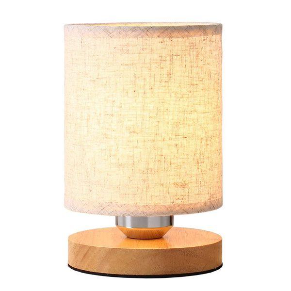 OOVOV Simple Mini Kid's Room Fabric Nightlight,D12cm Baby Room Bedroom Bedsides Small Table Light Desk Lamp