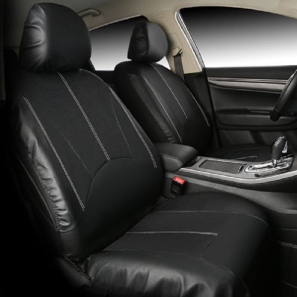 Stupendous Black Pu Leather Car Seat Cover Full Set Front Rear Seat Cushion Mat Protector Leather Cover Seats For Cars Leather Seat Car Covers From Letong168 Andrewgaddart Wooden Chair Designs For Living Room Andrewgaddartcom