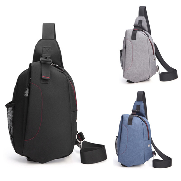 Men Fashion Casual Canvas Daypack Daily Travel Pack Cross Body Single Shoulder Backpack Multifunctional Small Sling Chest Bag For Travel