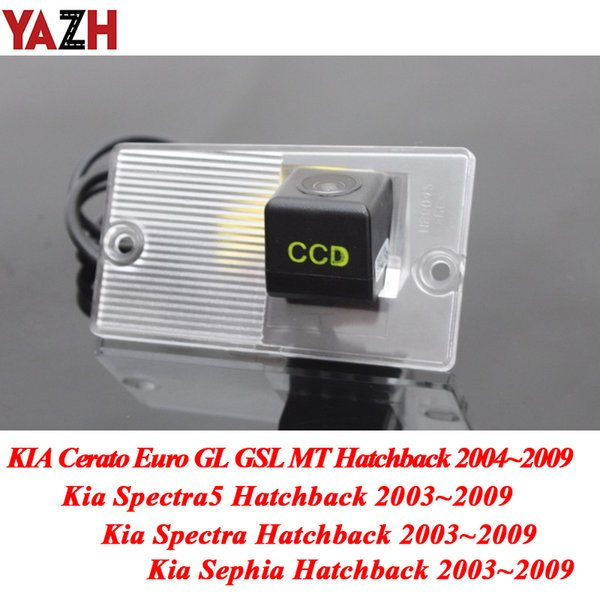 YAZH беспроводной CCD Широкий Угол объектива камера заднего вида для KIA Cerato Spectra Sephia 5 Хэтчбек Автомобиль HD ночного видения задней камеры