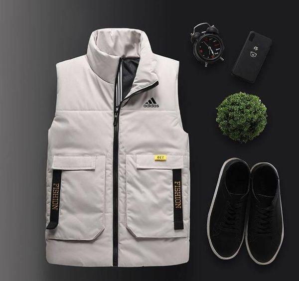 Chaleco de algodón otoño invierno nuevo estilo han versión tendencia ropa acolchada de algodón chaleco casual estudiante cuello alto chaqueta sin mangas chaqueta ja