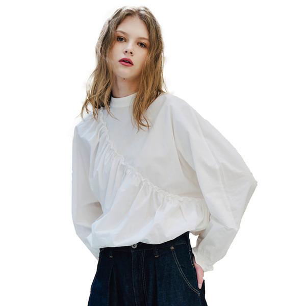 Chi indossa chi è bello! Prima e dopo le due donne in camicia a maniche lunghe camicia a maniche larghe di lino agaric 491010