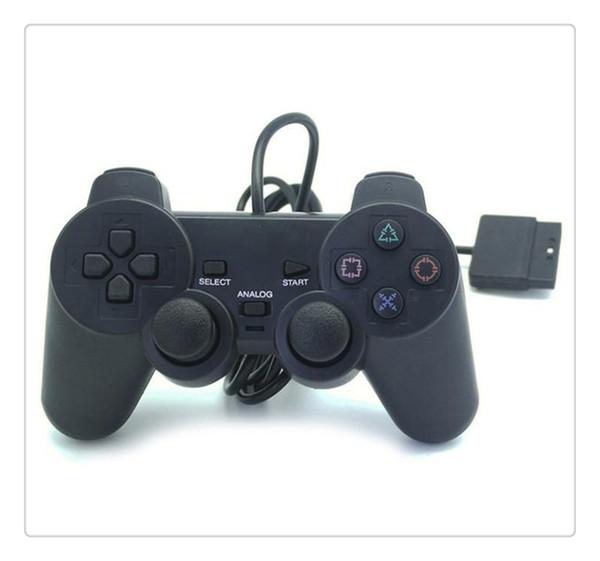 Kablolu Denetleyici Para PS2 Joystick Gamepad Oyun Konsolu Playstation 2 Için Siyah Sıcak Satış Toptan Fiyat