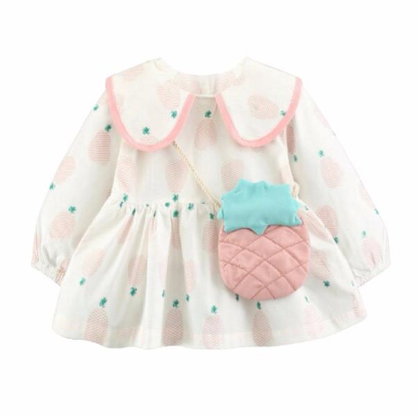 Primavera otoño chica imprimir manga larga princesa dress niños moda linda malla de hilo bola vestidos adultos niños trajes ropa