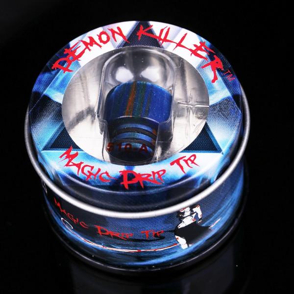 Бесплатный DHL Demon Killer 510 Смола Капельного Наконечника для TFV12 Baby Prince Смола Наконечник Оптовая Vape Чистая Эпоксидная Смола Мундштук для 510 Распылителя