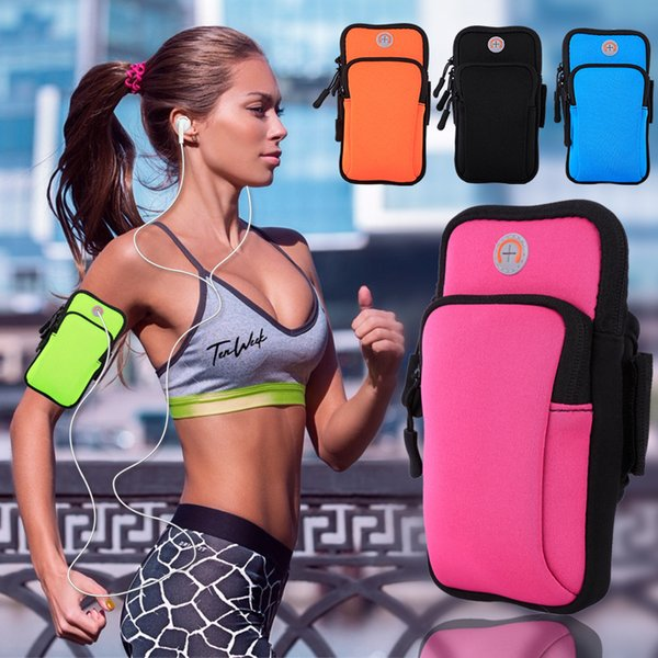 Outdoor Arm Pack Waterproof 4-6inch Mobile phone Bag Night running Headphone Bag Women And Men Waist Packs Fitness