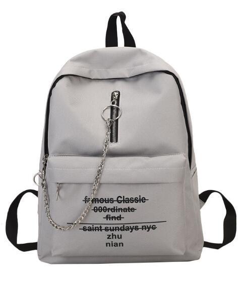 Холст студент рюкзак старинные сумка девушка новая цепь школьный письмо рюкзак