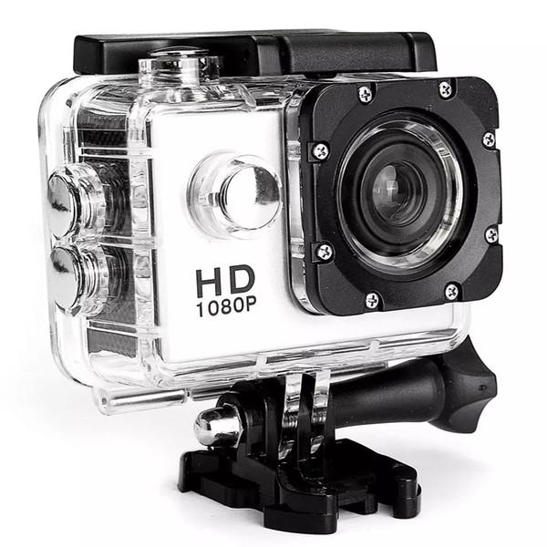 Sıcak 1080 P HD Spor Eylem Kamera Seti 30 m kask Sualtı kameralar araba kaydedici Su Geçirmez 1.5 Inç LCD Ekran 100 Derece Geniş Açı Lens