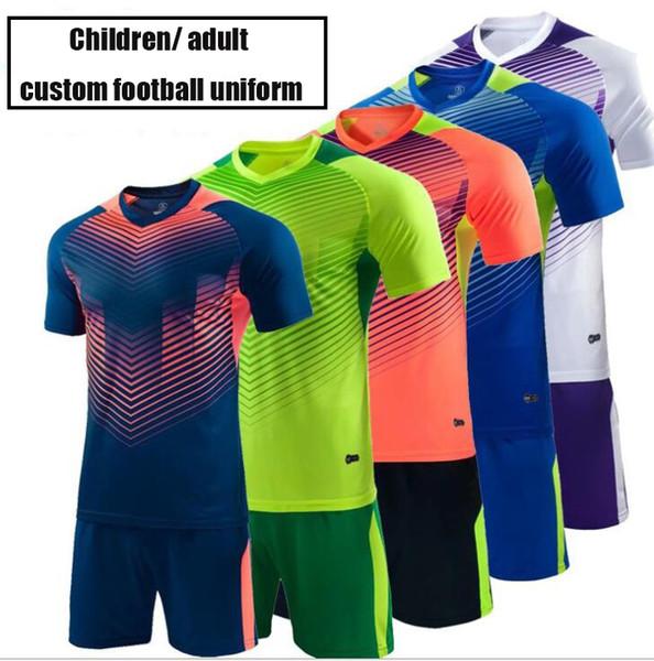 Nuovo Calcio Wear vuoto tute da calcio per allenamento della squadra uniforme vestito adulto maniche corte personalizzazione della camicia all'ingrosso prezzo basso