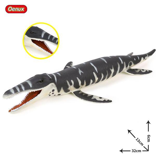 ction & Toy Figures Oenux Original Jurassic Dinosaur Liopleurodon Model Action Figures Savage Sea life Animals Plesiosaurus PVC Educa...